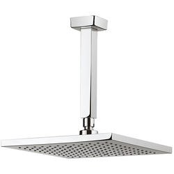 Crosswater Planet Square Shower Head & Ceiling Arm (250x250mm).