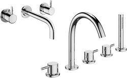 Crosswater Mike Pro Wall Mounted Basin & 5 Hole BSM Tap Pack & Kit.