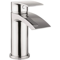 Crosswater Flow Basin Mixer Tap With Waste (Chrome).
