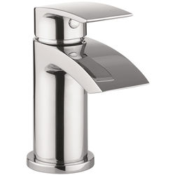 Crosswater Flow Mini Basin Mixer Tap With Waste (Chrome).