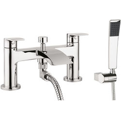 Crosswater Flow Bath Shower Mixer Tap With Kit (Chrome).