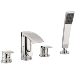 Crosswater Flow 4 Hole Bath Shower Mixer Tap With Kit (Chrome).