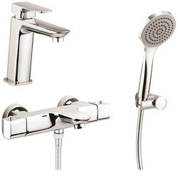 Crosswater North Basin & Wall Mounted BSM Tap Pack & Kit (Chrome).