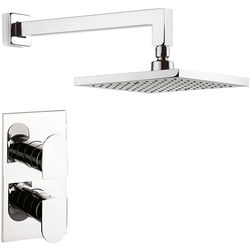 Crosswater Planet Thermostatic Shower Valve, 200mm Square Head & Arm.