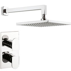 Crosswater Planet Thermostatic Shower Valve, 250mm Square Head & Arm.