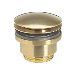 Crosswater Industrial Click Clack Basin Waste (Unlac Brushed Brass).
