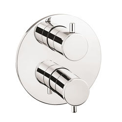 Crosswater Industrial Crossbox 3 Outlet Shower Valve (Chrome).