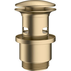 Crosswater MPRO Slotted Click Clack Basin Waste (Brushed Brass).