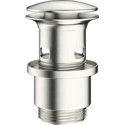 Crosswater MPRO Slotted Click Clack Basin Waste (Brushed Steel).