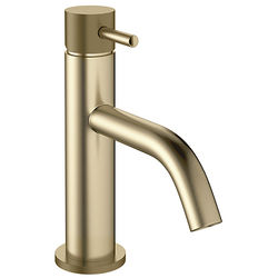 Crosswater MPRO Basin Mixer Tap With Knurled Handle (B Brass).