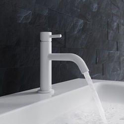 Crosswater MPRO Basin Mixer Tap With Lever Handle (Matt White).