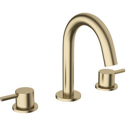 Crosswater MPRO Basin Mixer Tap (3 Hole, Brushed Brass).