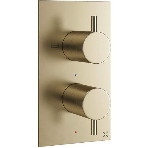 Crosswater MPRO Thermostatic Shower Valve (2 Way Diverter, B Brass).