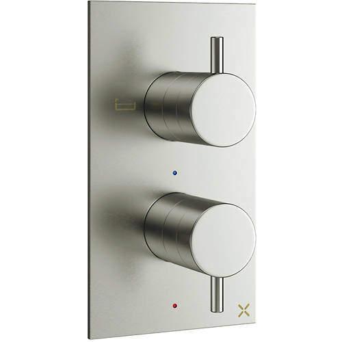 Crosswater MPRO Thermostatic Shower Valve (2 Way Diverter, S Steel).