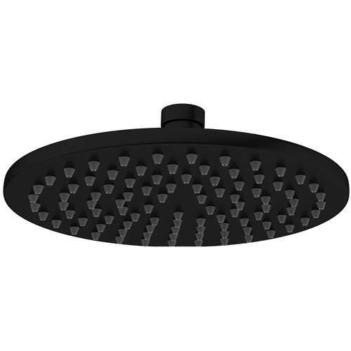 Crosswater MPRO Round Shower Head 200mm (Matt Black).