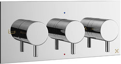 Crosswater Mike Pro Thermostatic Shower Valve With 3 Outlets (3 Handles).