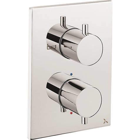 Crosswater MPRO Crossbox 2 Outlet Shower / Bath Valve (Chrome).