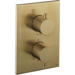 Crosswater MPRO Crossbox 3 Outlet Shower / Bath Valve (Brushed Brass).