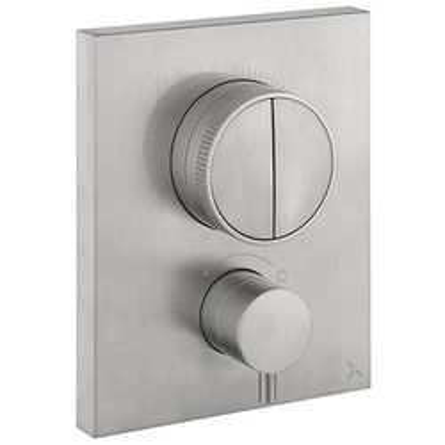 Crosswater MPRO Crossbox Push 2 Outlet Shower Valve (S Steel).