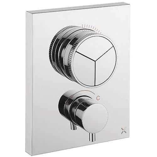 Crosswater MPRO Crossbox Push 3 Outlet Shower Valve (Chrome).