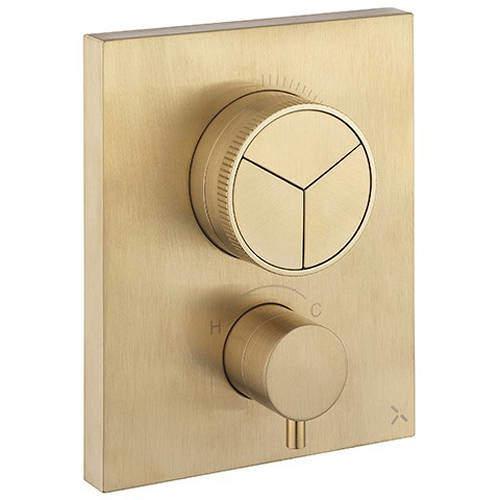 Crosswater MPRO Crossbox Push 3 Outlet Shower Valve (Br Brass).
