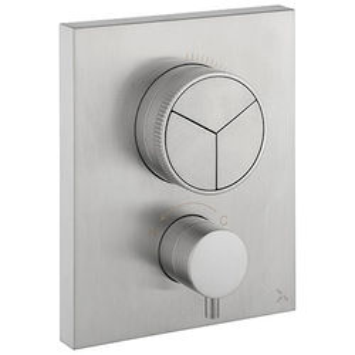 Crosswater MPRO Crossbox Push 3 Outlet Shower Valve (S Steel).