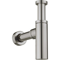 Crosswater UNION Bottle Trap With 400mm Pipe (Brushed Nickel).