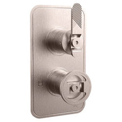 Crosswater UNION Thermostatic Shower Valve (1 Outlet, Brushed Nickel).