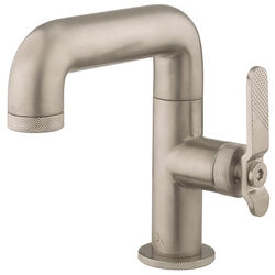 Crosswater UNION Basin Mixer Tap With Lever Handle (Brushed Nickel).