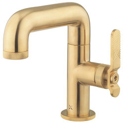 Crosswater UNION Basin Mixer Tap With Lever Handle (Brushed Brass).
