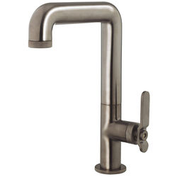 Crosswater UNION Tall Basin Mixer Tap With Lever Handle (Brushed Black).