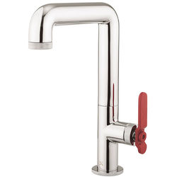 Crosswater UNION Tall Basin Mixer Tap With Red Lever Handle (Chrome).
