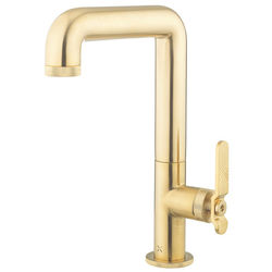 Crosswater UNION Tall Basin Mixer Tap With Lever Handle (Brushed Brass).