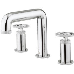 Crosswater UNION Three Hole Deck Mounted Basin Mixer Tap (Chrome).