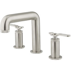 Crosswater UNION Three Hole Deck Mounted Basin Mixer Tap (Brushed Nickel).