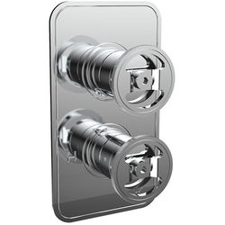 Crosswater UNION Thermostatic Shower Valve (2 Outlets, Chrome).