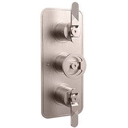 Crosswater UNION Thermostatic Shower Valve (2 Outlets, Brushed Nickel).