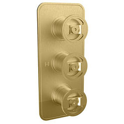 Crosswater UNION Thermostatic Shower Valve (2 Outlets, Brushed Brass).
