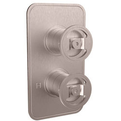 Crosswater UNION Thermostatic Shower Valve (3 Outlets, Brushed Nickel).