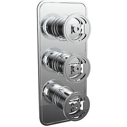Crosswater UNION Thermostatic Shower Valve (3 Outlets, Chrome).