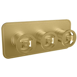 Crosswater UNION Thermostatic Shower Valve (3 Outlets, Brushed Brass).