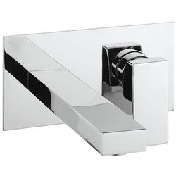 Crosswater Verge Wall Mounted Basin Mixer Tap (Chrome).