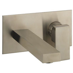 Crosswater Verge Wall Mounted Basin Mixer Tap (Brushed Stainless Steel).