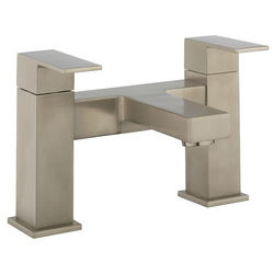 Crosswater Verge Bath Filler Tap (Brushed Stainless Steel Effect).
