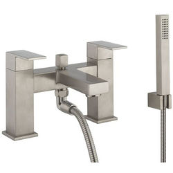 Crosswater Verge Bath Shower Mixer Tap & Kit (Brushed Stainless Steel).