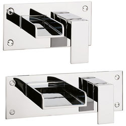 Crosswater Water Square Wall Mounted Basin & Bath Filler Tap Pack.