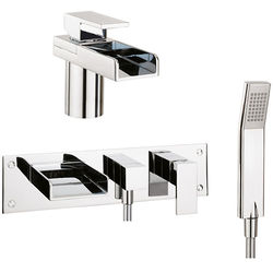 Crosswater Water Square Basin & Wall Mounted BSM Tap Pack.