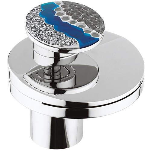 Crosswater Water Circle Waterfall Basin Mixer Tap & Designer Handle (Chrome).