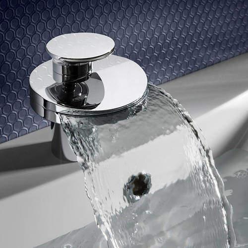 Crosswater Water Circle Waterfall Basin Mixer Tap (Chrome).