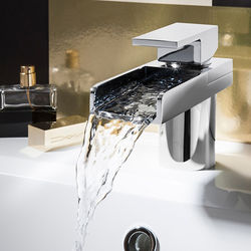 Crosswater Water Square Basin Mixer Tap (Chrome).